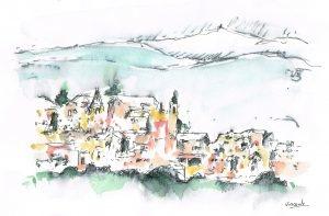 Roussillon-aquarelle
