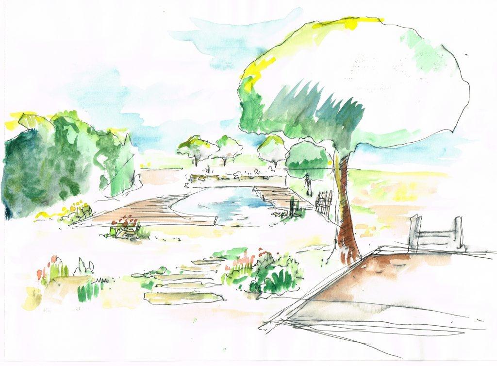 étude jardin Isle sur la sorgue