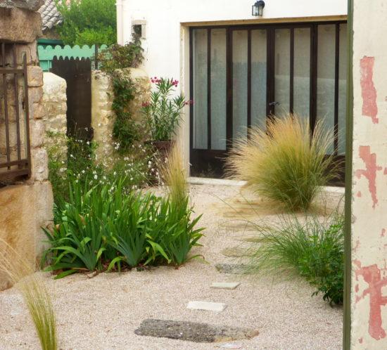paysagiste jardin sec maison